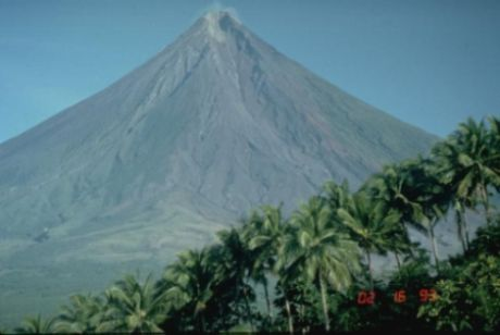 Mayon volcano in the Philippines is one of Earth's best examples of a classic, conical stratovolcano. Its symmetrical morphology is the exception rather than the rule, and is the result of eruptions that are restricted to a single central conduit at the summit of the volcano. Eruptions are frequent enough at Mayon, the most active volcano in the Philippines, to overcome erosive forces that quickly modify the slopes of most volcanoes.