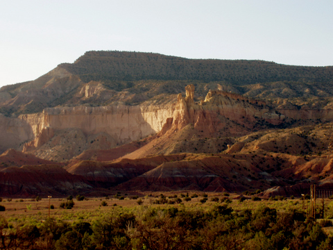 Ghost Ranch contains fossil-rich, Late Triassic beds. Credit: Sterling Nesbitt